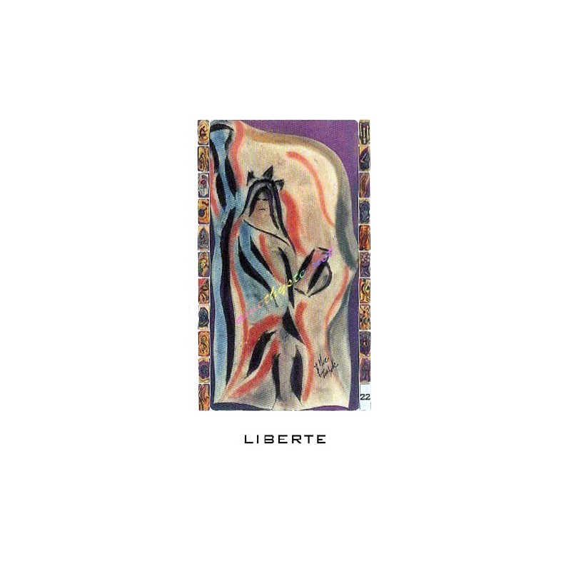 Round stain brush jaune