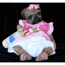 Yeux rond glastic brown